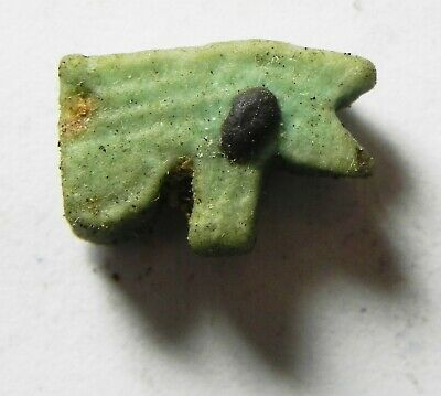 ZURQIEH -as14434- ANCIENT EGYPT,  FAIENCE EYE OF HORUS AMULET. 600 - 300 B.C