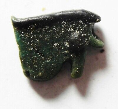 ZURQIEH -as14437- ANCIENT EGYPT,  FAIENCE EYE OF HORUS AMULET. 600 - 300 B.C