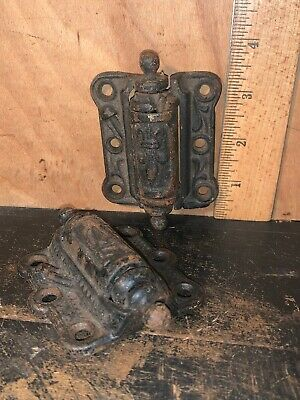 Vintage Ornate Cast Iron Screen Door Hinges Cottage Door Hinge Barn Door