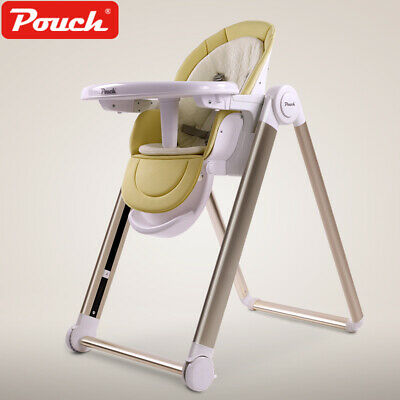 Pouch Baby Kid infant Folding Highchair Feeding Chair Height Backrest Adjustable