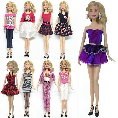 9Pcs Dress clothing outfit casual summer dress party For Barbie Doll
