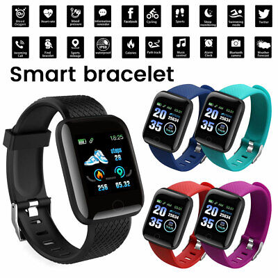 D13 116plus Smart Watch Orologio intelligente Fitness Cardiofrequenzimetro Nero