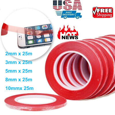 RED Double Sided Super Sticky Heavy Duty Adhesive Tape For Cell Phone Repair USA