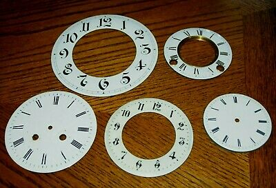 Collection Of Antique Enamel Clock Faces/Chapter Rings