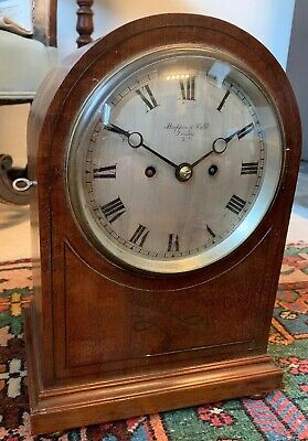 Mappin & Webb Double Twin Fusee Movement Antique Bracket Mantle Clock