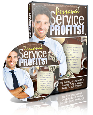 Personal Service Profits Video Training Course+PLR License+Free Shipping