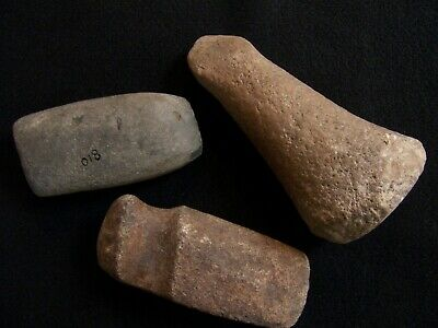 3 Authentic Hardstone Artifacts From The A.e. Avery Collection, Cataloged 1943