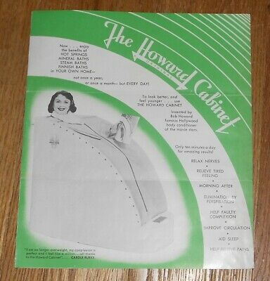 c1950 Vintage Quack Medical Pamphlet The Howard Original Cabinet