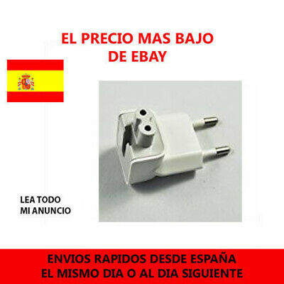 Enchufe europeo adaptador Conversor Cargador de viaje iPhone de Apple Macbook