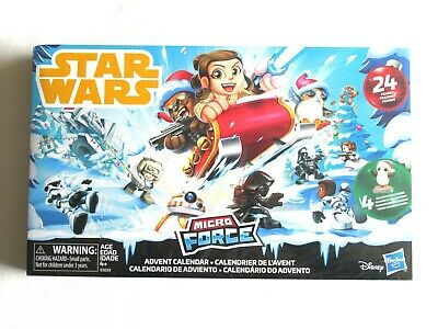 Star Wars 2018 Micro Force Advent Calendar 24 Figures 4+ Exclusive Holiday Figs
