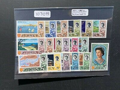 Jersey 1971-74 Definitives Decimal Set (18v) (SG Between 42-56) MNH (103099)