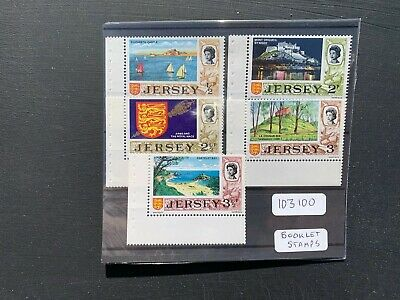 Jersey 1971-74 Decimal Definitives Booklet Stamps (5v) (SG Between 42a-48a) MNH