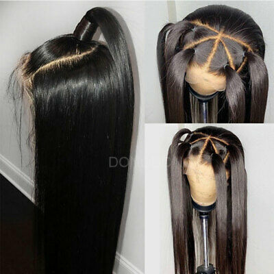 Straight Lace Front Wigs Thick Malaysian Virgin Human Hair Wig with Baby Hair hn