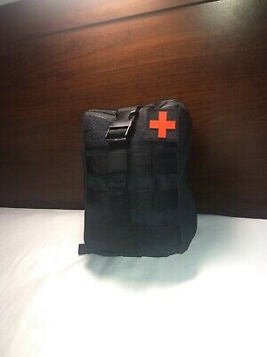 "Individual First Aid Kit (IFAK) Black.  (NEW) 7.8""X 5.5"" X 3.5""  Stocked"