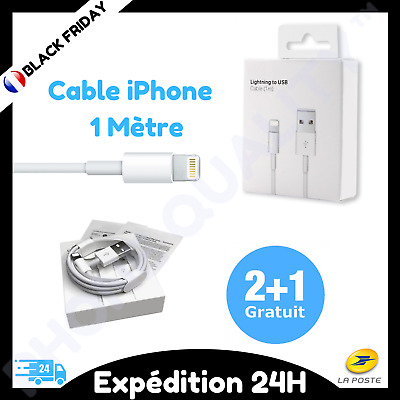 Câble original USB 1M Chargeur Lightning pour Apple Iphone 5/5C/5S/6/6S/7/8/X/XR