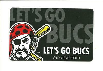 Pittsburgh Pirates Gift Card No $ Value Collectible Let's Go Bucs