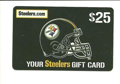 Pittsburgh Steelers Gift Card No $ Value Collectible