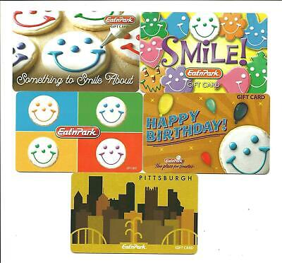 Lot of (5) Eat'nPark Gift Cards No $ Value Collectible Pittsburgh Smiley Cookies
