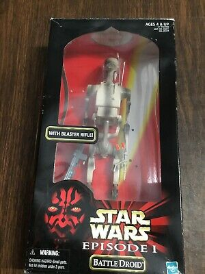 "1999 Hasbro Star Wars Episode 1 12"" Battle Droid  Action Figure W/Rifle ~  Misb"