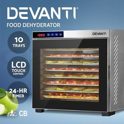 Devanti Food Dehydrators Commercial Beef Jerky Dehydrator Stainless Steel Dryer