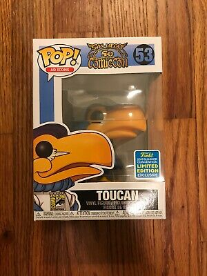 Funko Pop Ad Icons Toucan 53 SDCC 50 Years Convention Exclusive Limited Edition