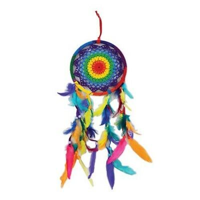 Rainbow Dream Catcher with Colored Feathers Dreamcatcher