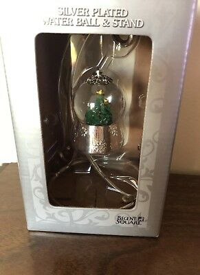 "Silver Plated Water Ball& Stand ""Regent Square ""in a box,new."