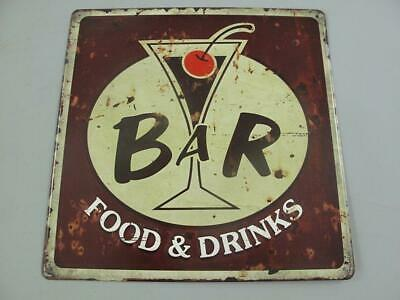 Metal Sign,Advertisement Sign bar Food & Drinks, Pubs Wall 11 13/16x11 13/16in