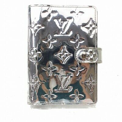 Authentic Louis Vuitton Diary Cover Agenda PM Silver  808659