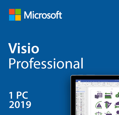 Microsoft Visio 2019 Pro Professional (32/64 Bit) Activation Product Key 1 PC