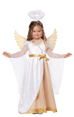 Girls Age 3 - 6 Years Angel Costume Halo Wings Christmas Nativity Fancy Dress