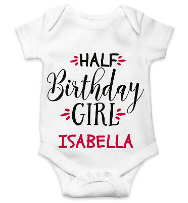 Personalised Baby Grow Vest Bodysuit Boys Girls Name Funny Baby Shower Gift 118