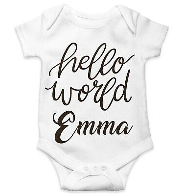 Personalised Baby Grow Vest Bodysuit Boys Girls Name Funny Baby Shower Gift 120