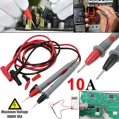 Universal Digital Multi Meter Test Lead Probe 1000V 10A 90cm Volt Meter Cable