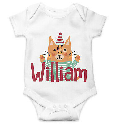 Personalised Baby Grow Vest Bodysuit Boys Girls Name Funny Baby Shower Gift 145