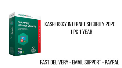 Kaspersky Internet Security 2020 1 PC 1 Year ESD, EUROPE