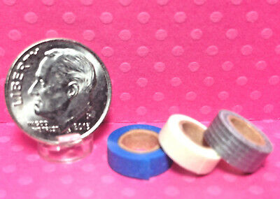 Dollhouse Miniature Replica Rolls of Tape Masking Painters and Duct Roll HR56117