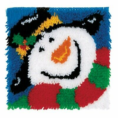 HOLLY SNOWMAN LATCH HOOK RUG KIT from UK SELLER, BRAND NEW