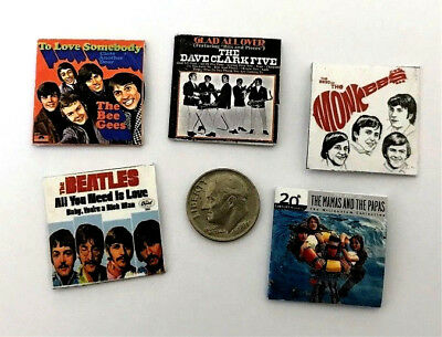 """/""""Record/"""" Albums with /""""Records/"""" #17 1:12 Dollhouse Miniature Overstock Lot Sale"""