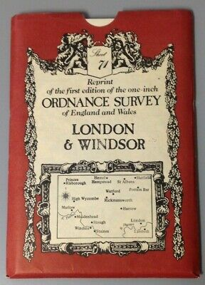 Ordnance Survey Map -- London & Windsor Reprint .