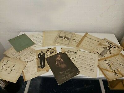 Joblot Of Antique And Vintage Musical Scores