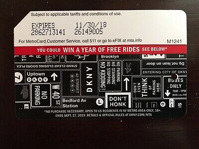DKNY Metrocard - Expired Collectable Item