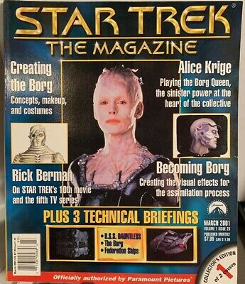 Star Trek The Magazine Collectors Edition March 2001 w/poster insert