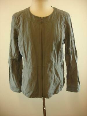 L  Retail $358 NWT EILEEN FISHER  GRAPHITE Rumpled Cotton Shepard Jacket Sz  M