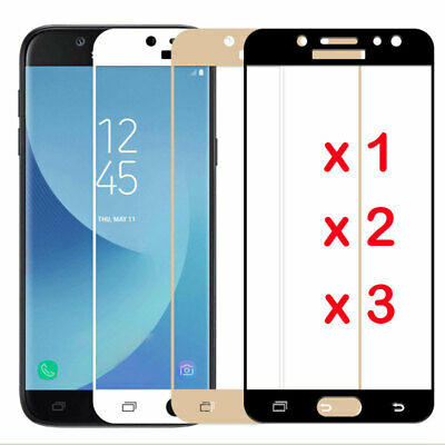 For Samsung Galaxy A3 A5 A7 2017 Full Cover Tempered Glass Screen Protector - Du