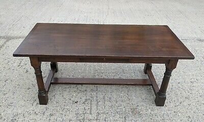 Stunning French Solid Oak Farmhouse Kitchen Dining Table, Seats 8 Superb Quality