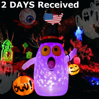 Large Halloween Inflatable Pumpkin Ghost Outdoor Yard Halloween Inflatable Decor