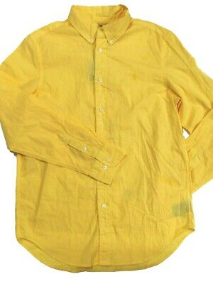 Polo Ralph Lauren Girls Teenagers Wimbledon Yellow Shirt Large 14-16 years SP13