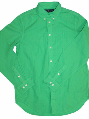Polo Ralph Lauren Girls Teenagers Bottle Green Shirt Large 14-16 years SP12