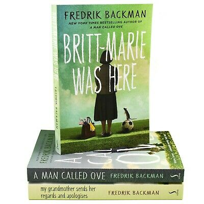 Fredrik Backman 3 Books Collection Set A Man Called Ove,Britt-Marie Was Here New